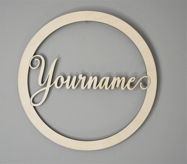 Personalized Door Wreath Style 1