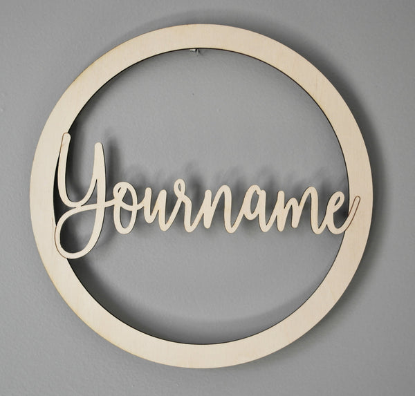 Personalized Door Wreath Style 2