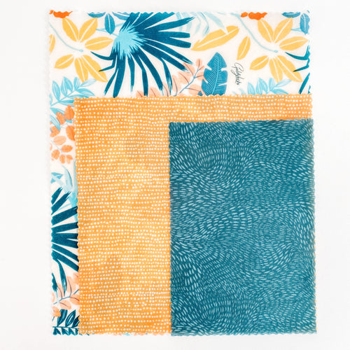 Tropical Palms Food Wrap - Set of 3