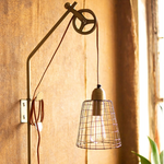 Metal Pulley Wall Lamp