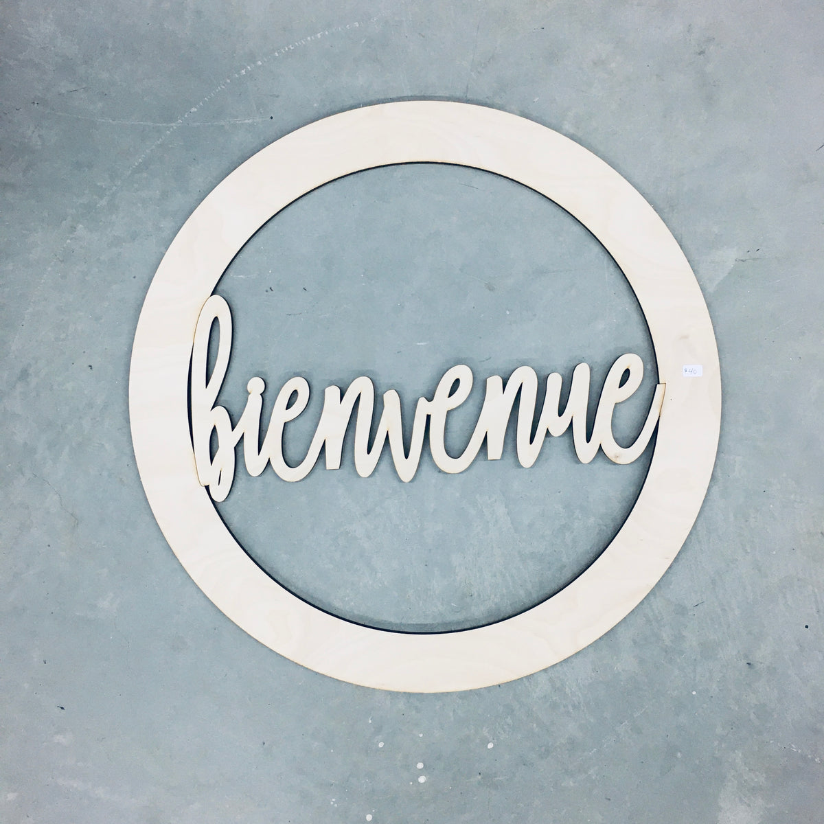 Door Wreath - Bienvenue