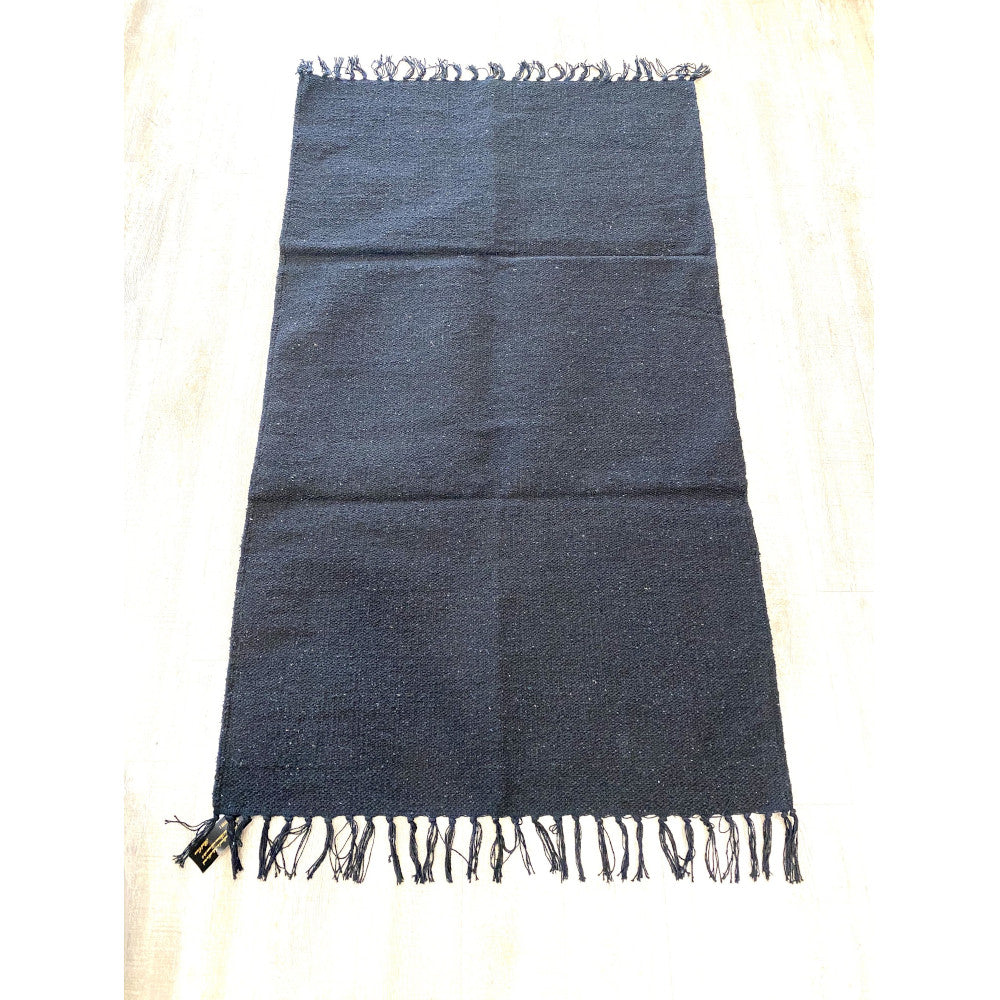 Black Cotton Rug 2x3
