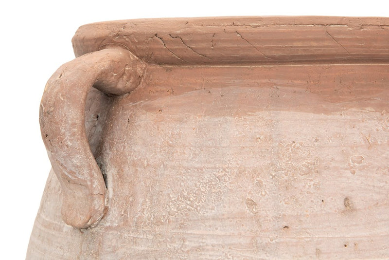 Whitewashed  Terra Cotta Urn