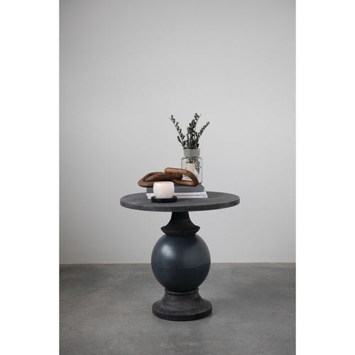 Black Mango Wood & Metal Table