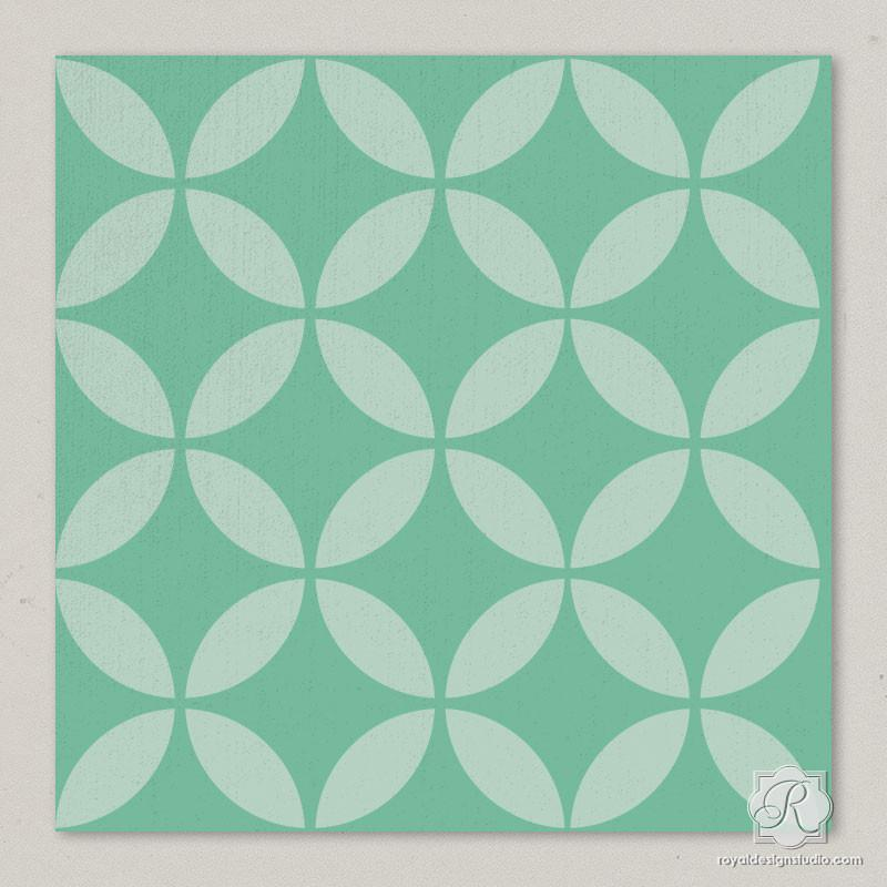 Endless Moorish Circles Craft Stencil