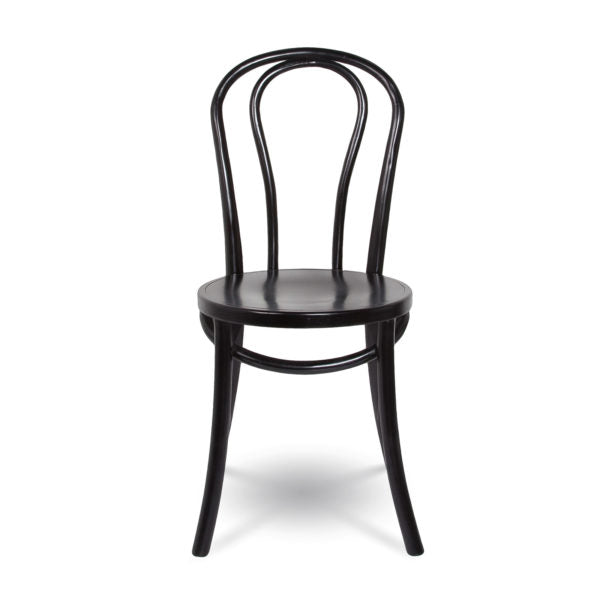 French Bistro Chair - Matte Black