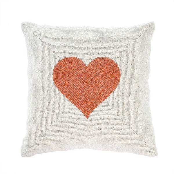 Beaded Heart Pillow
