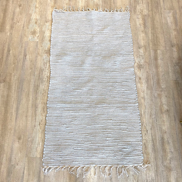 Grey Cotton Rug 3x5