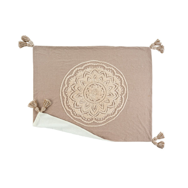 Chambray Mandala Throw, Sand