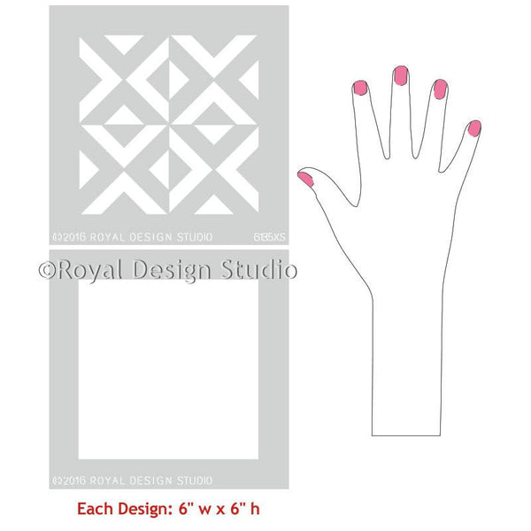 All The Angles Moroccan Craft Stencil