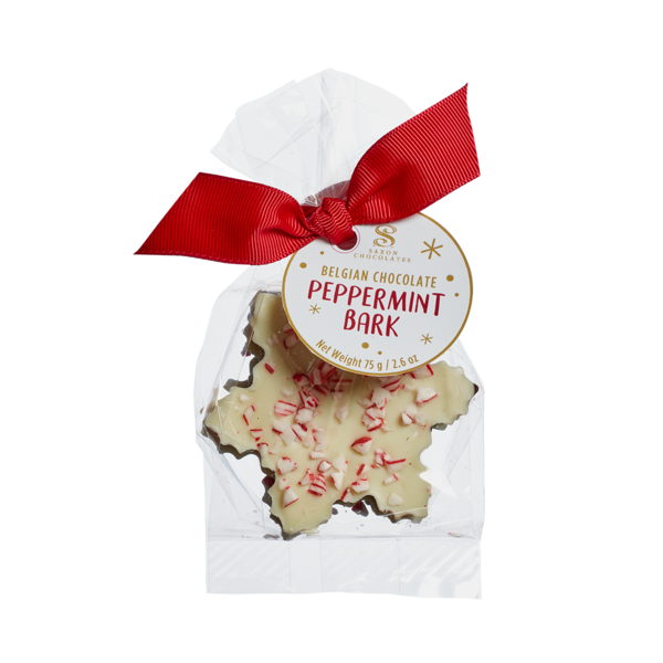 Peppermint Bark snowflake 3pc bag