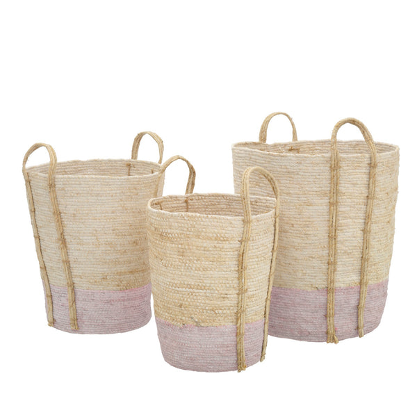 Natural Pink Shore Basket