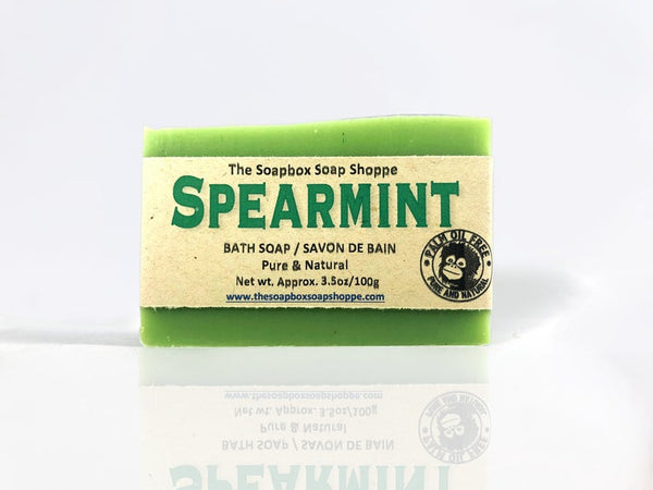 Spearmint Natural Soap Bar