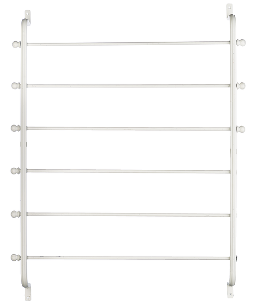 White Wall Mounted Blanket Rack