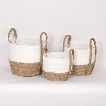 White Natural Basket