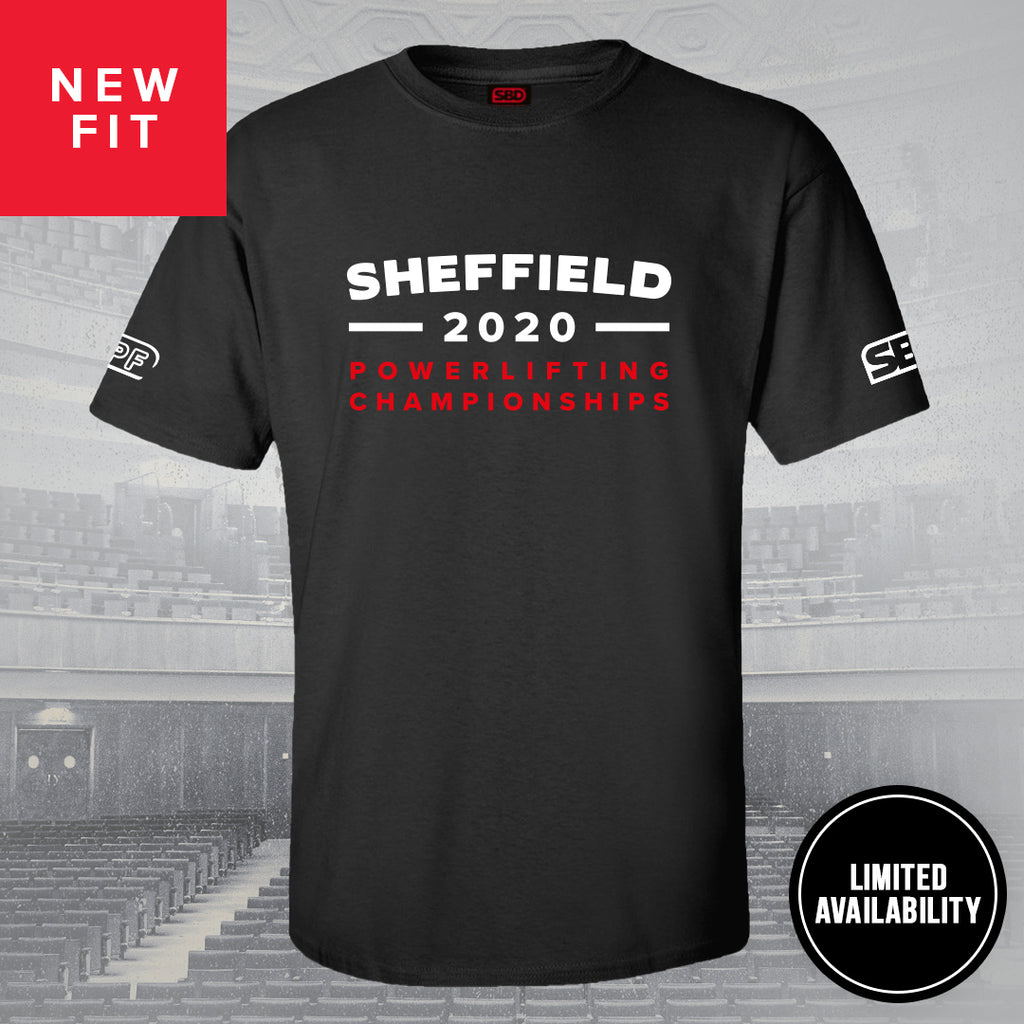 Limited Edition: The Sheffield 2020 Powerlifting Championships T-shirt