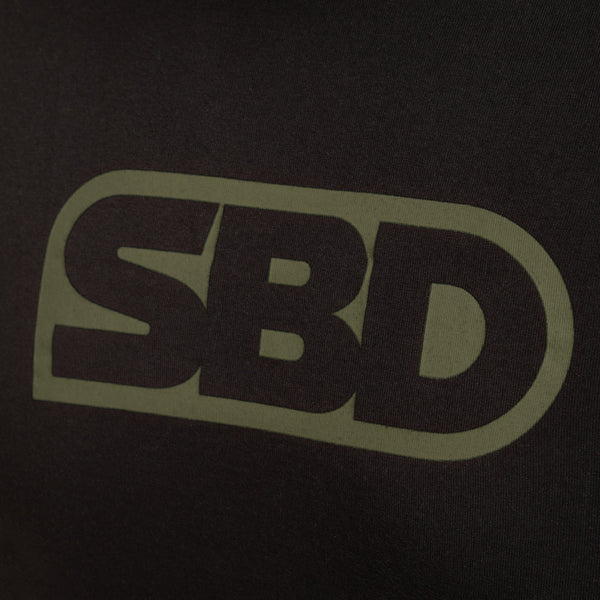 SBD T-Shirt - Black With Green (2020 Endure Range)