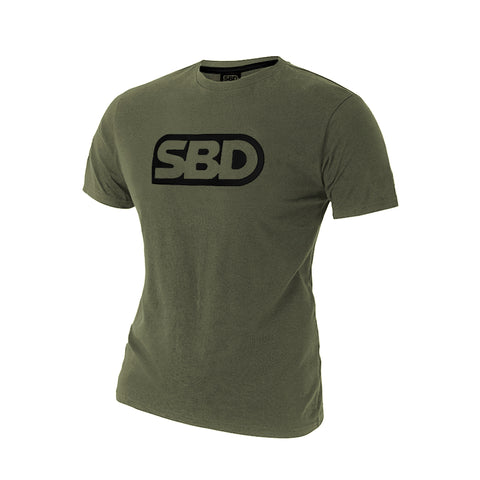 SBD T-Shirt - Green With Black (2020 Endure Range)