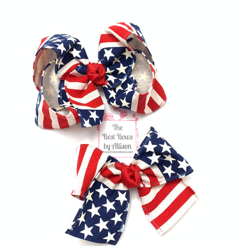 Stars and Stripes Bow (Canvas Ribbon)