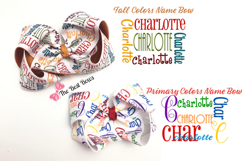 Custom Printed Name, Logo, or Character Bow-STOCK designs ONLY