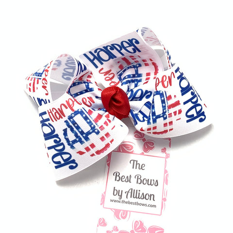 Patriotic NAME BOW