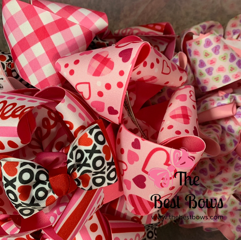 Various Prints Valentine Bows