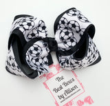 Layered or Lined Soccer Balls Bow