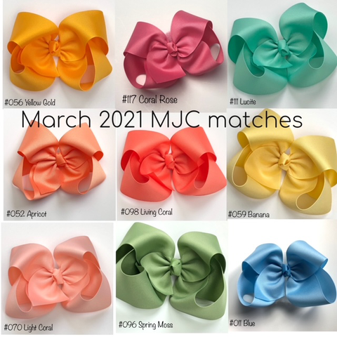 MJC Matches March 2021 Every Solid Color and Style