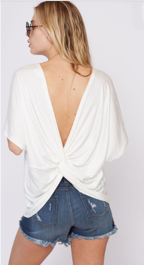 the knot top in white