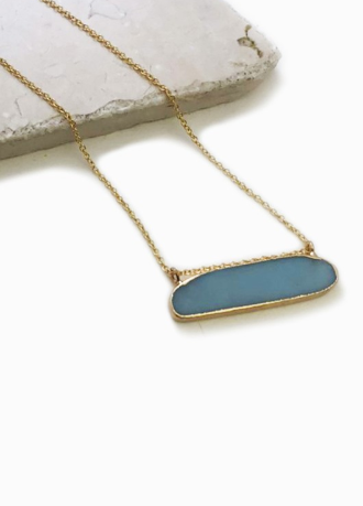 little blue necklace