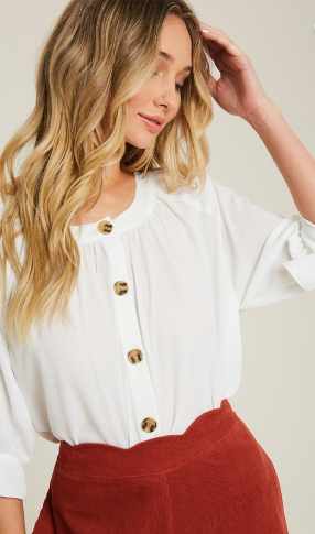 passport to paris button blouse