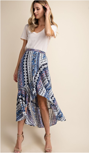 carefree ruffle skirt