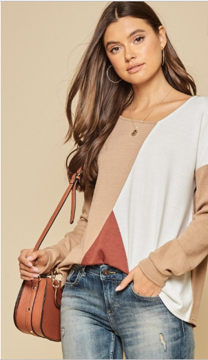feels like fall knit top