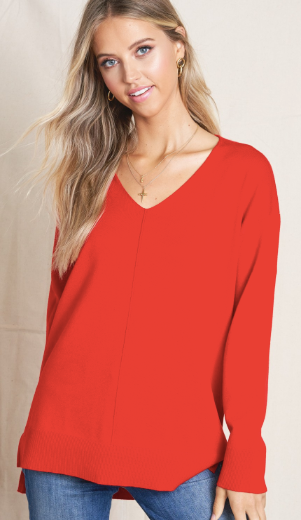 Colorado Cabin Getaway Sweater in Red