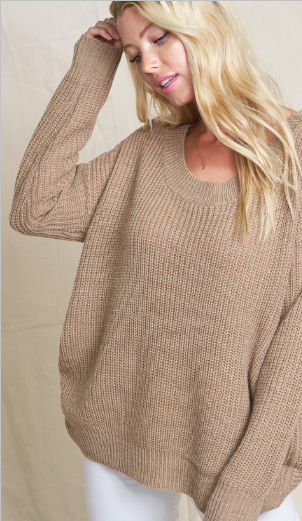 twisted back sweater