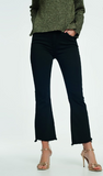 black crop ankle flare jeans