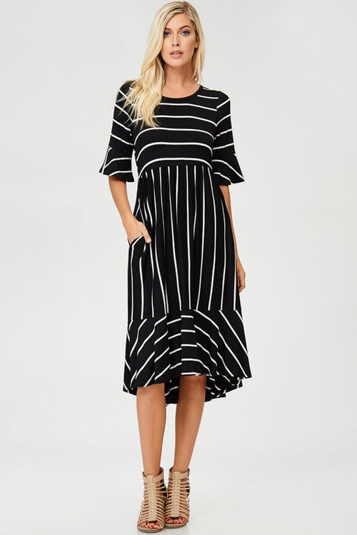 stripe a pose midi