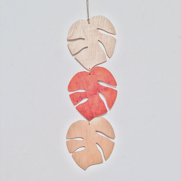 Monstera Leaf Wall Hanging Mobile
