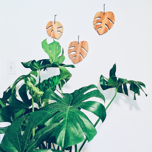 Monstera Leaf Wood Wall Hanging