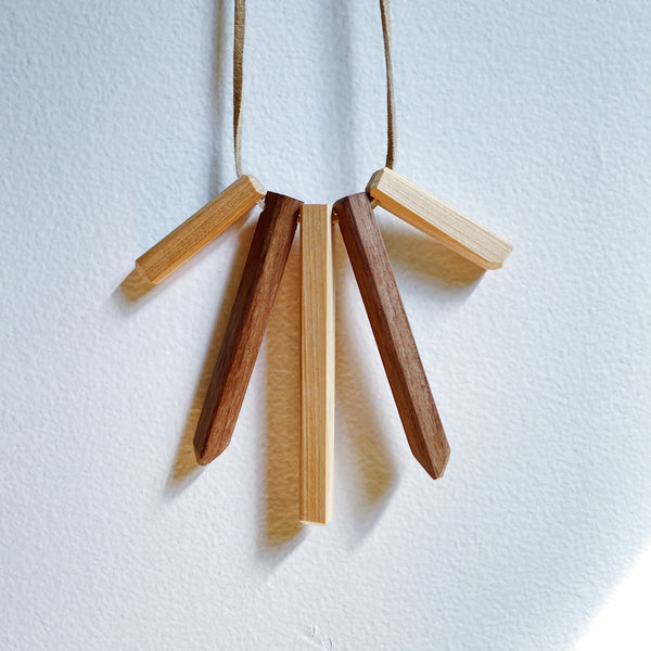 A Wildly Wood & Leather Necklace