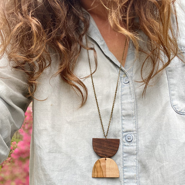 A Wildly Wood Necklace