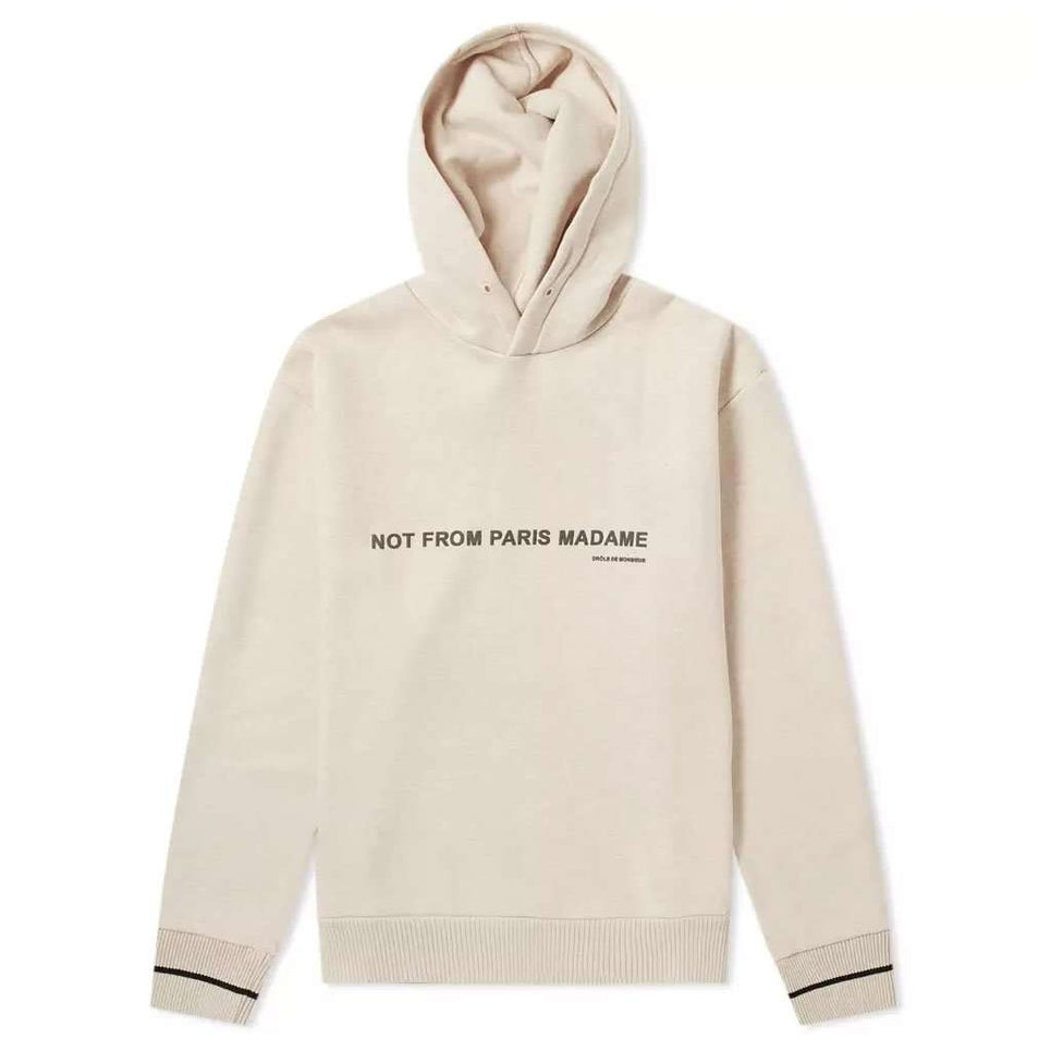 Drole De Monsieur Slogan Brushed Hoodie