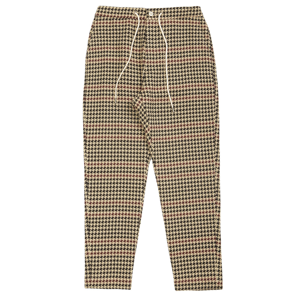 Drole De Monsieur Houndstooth Tapered Pants