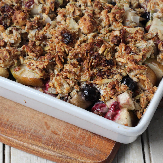 Paleo Pear and Berry Cobbler