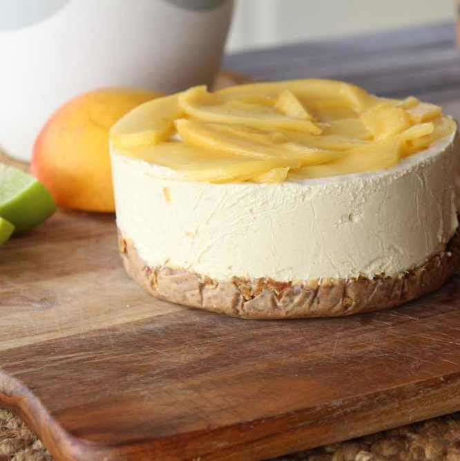 Raw Mango & Lime Cheesecake