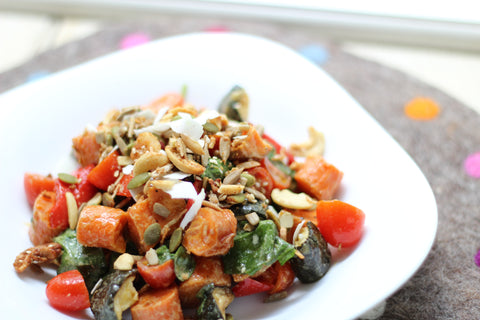 Roasted Vegetable Salad | Clean Healthy Recipes