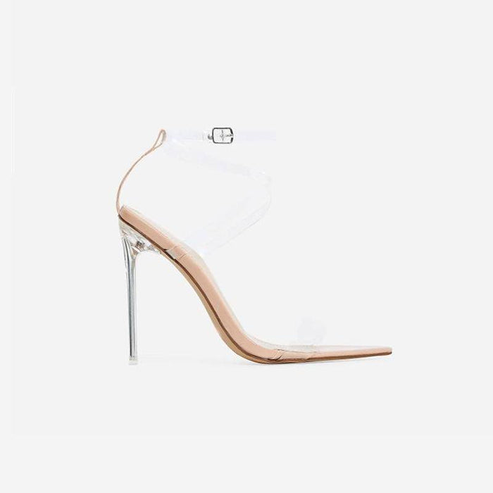 ALEXIA CLEAR PERSPEX POINTED STILETTO