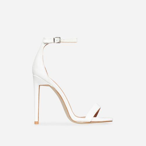 CLEO IVORY WHITE HEELS - Abuze shoes