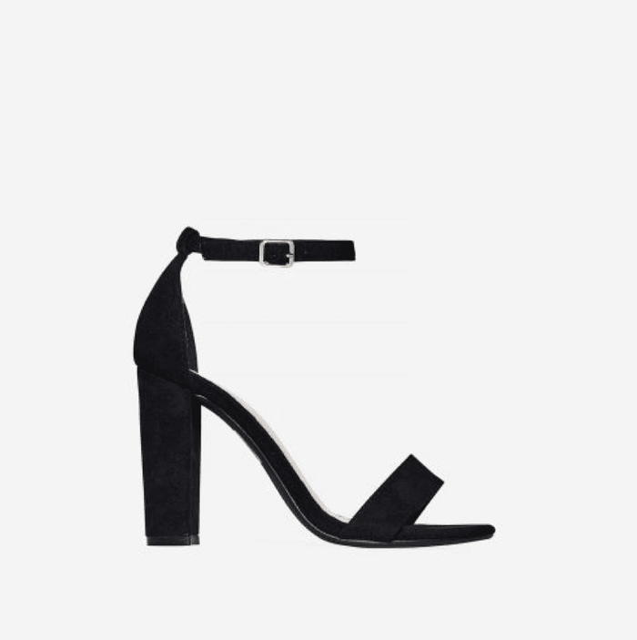 CLEOPATRA PANTHER BLACK BLOCK HEELS - Abuze shoes