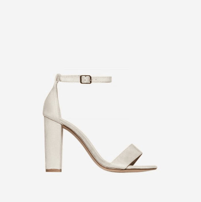 CLEOPATRA IVORY WHITE BLOCK HEELS - Abuze shoes